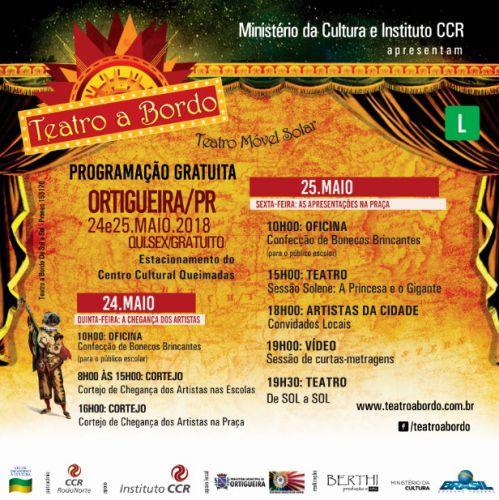 Ministério da Cultura e Instituto CCR apresentam Teatro a Bordo em Ortigueira