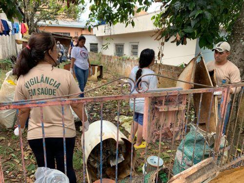 Mutirão contra a dengue, no início do ano: casos aumentaram, segundo a Sesa