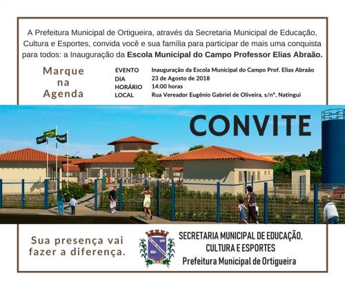 CONVITE INAUGURAÇÃO EMC PROF. ELIAS ABRAÃO - NATINGUI