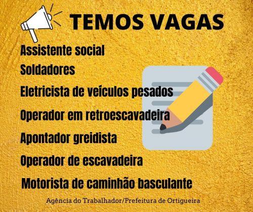 Agência do Trabalhador: mais de 20 vagas de emprego em Ortigueira