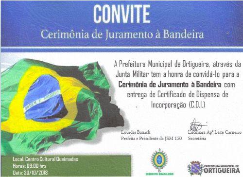 CERIMÔNIA DE JURAMENTO À BANDEIRA