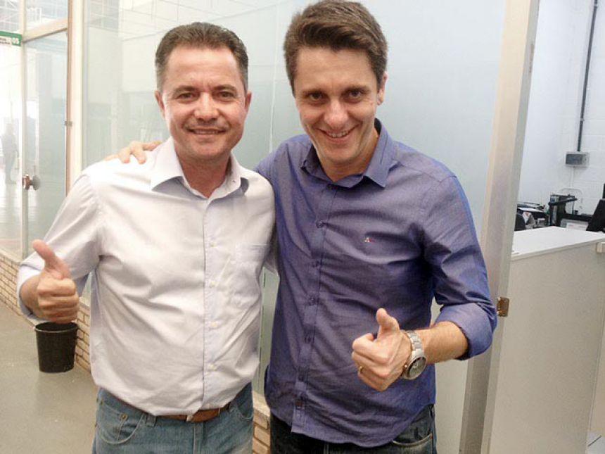 Prefeito Val Dantas e o deputado federal Alex Manente