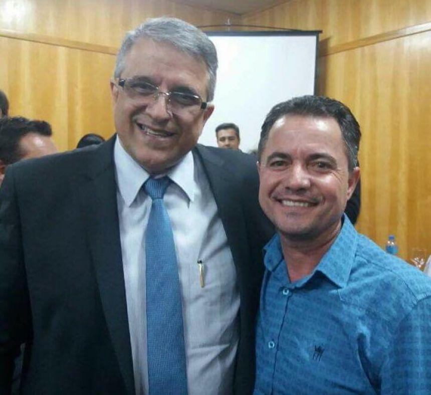 Deputado estadual Reinaldo Alguz e o prefeito Val Dantas