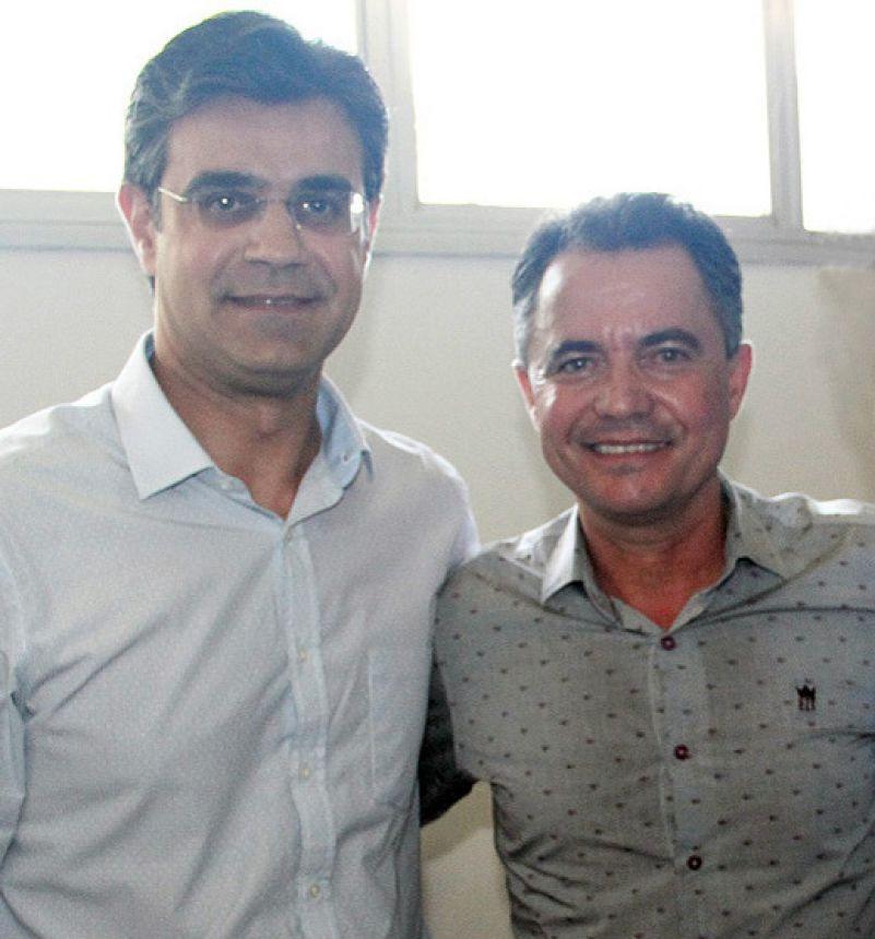 Deputado federal Rodrigo Garcia e o prefeito Val Dantas
