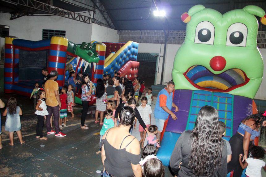 Diversos brinquedos infláveis tiveram no evento