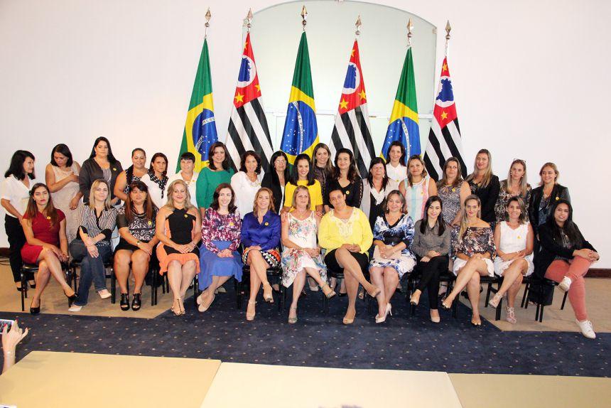 Presidente do Fussesp, Lu Alckmin com as demais participantes da região
