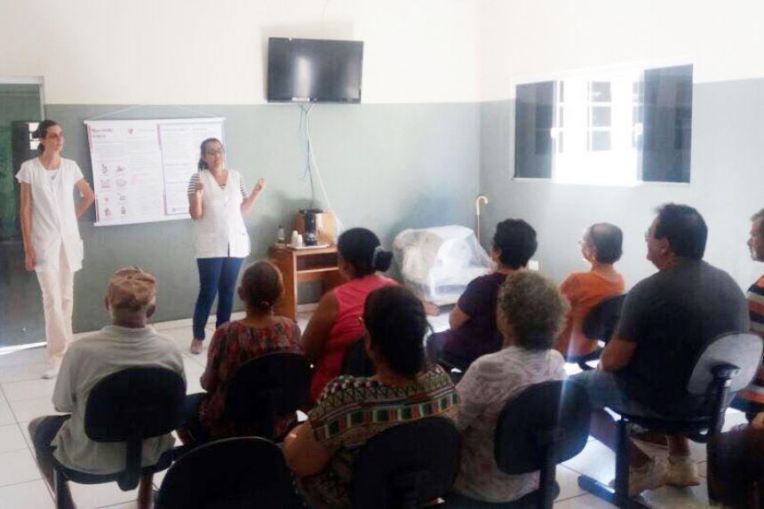 Saúde realiza palestras sobre hipertensão e diabetes