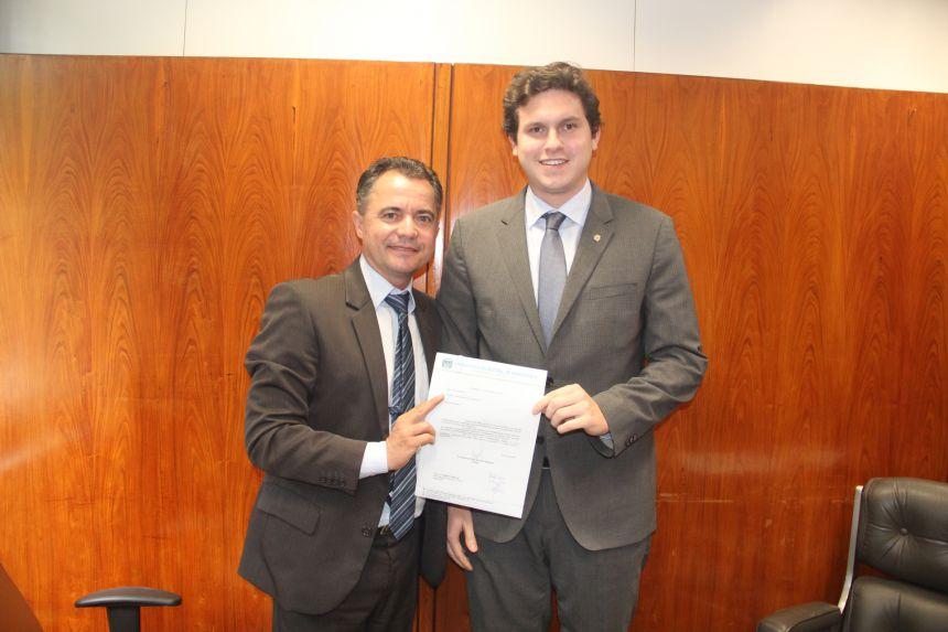 Prefeito Val Dantas e o deputado federal Enrico Misasi