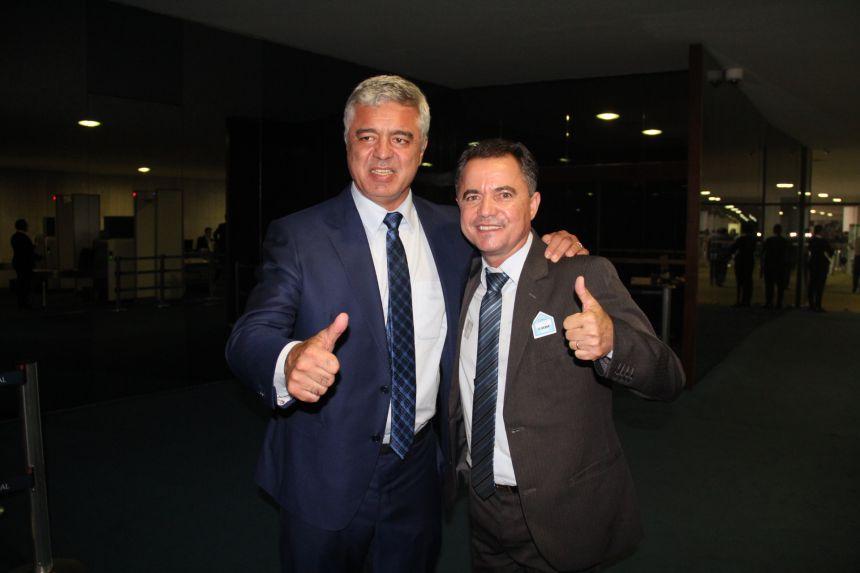 Senador Major Olimpio e o prefeito Val Dantas
