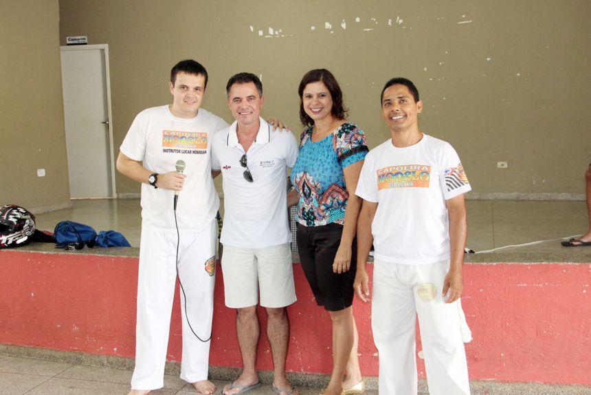 Apresentação de capoeira é realizada em Mariápolis