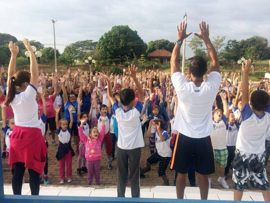 Diversas atividades físicas foram realizadas no evento