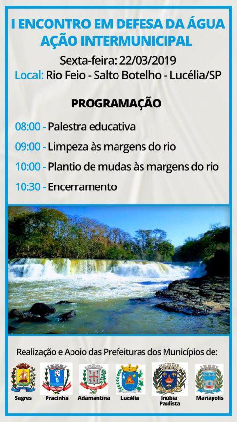 Mariápolis participa do I Encontro em Defesa da Água no Salto Botelho em Lucélia