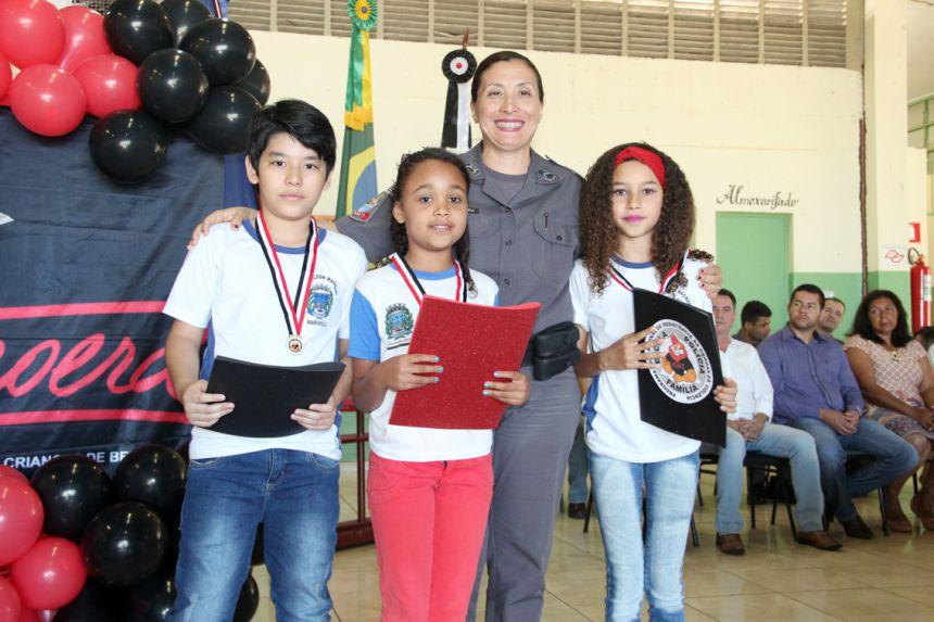 Autoridades participam da formatura do Proerd da Escola Nelson Magnani