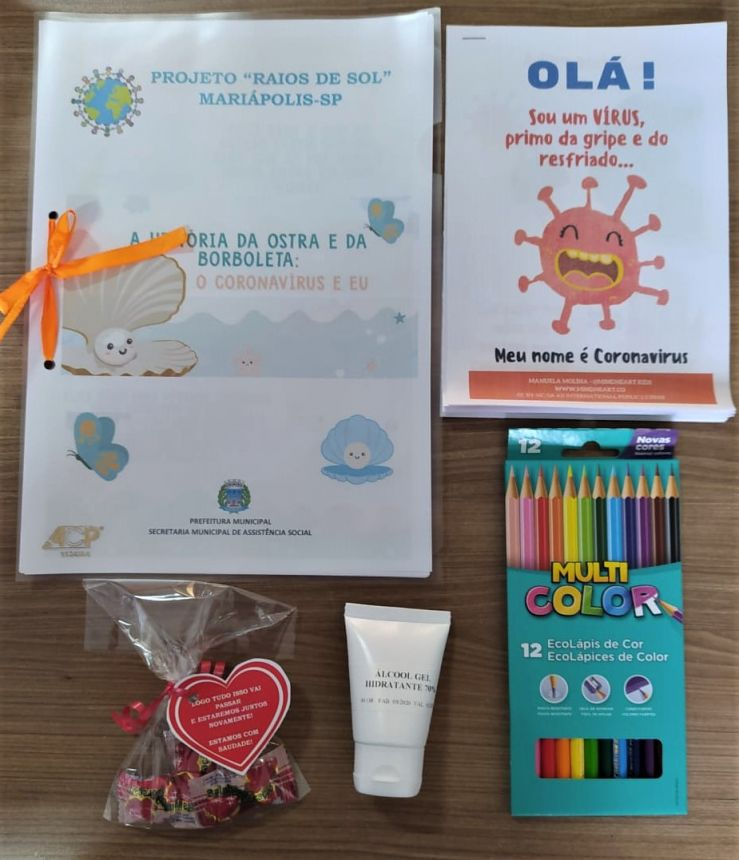 Crianças do Projeto Raios de Sol recebem Kit Lúdico através da Secretaria Social