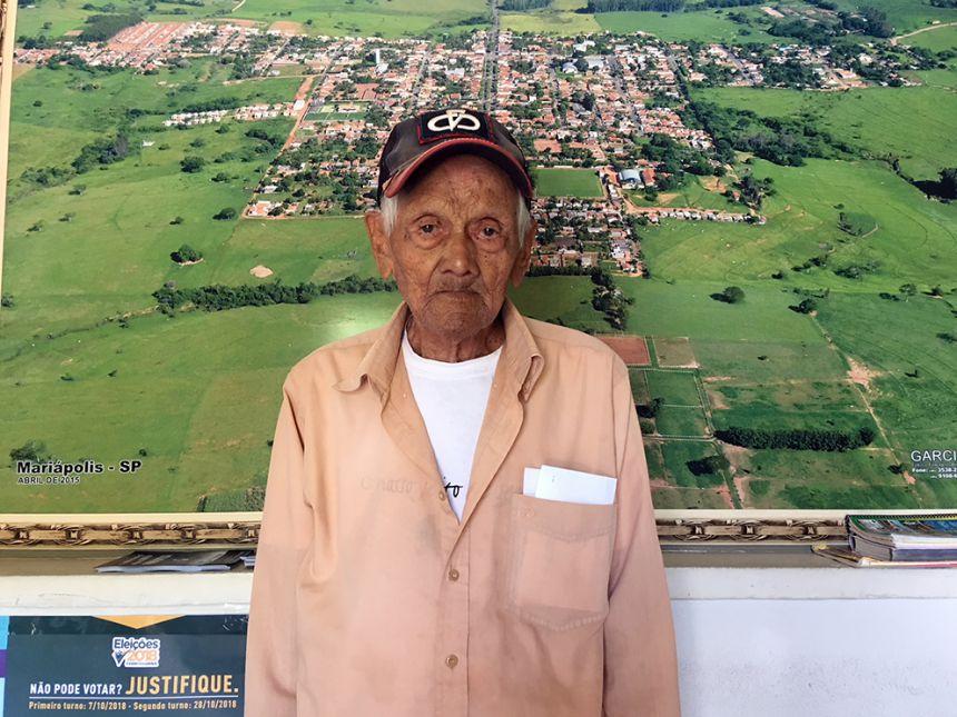 Seu Santinho, completou 101 anos