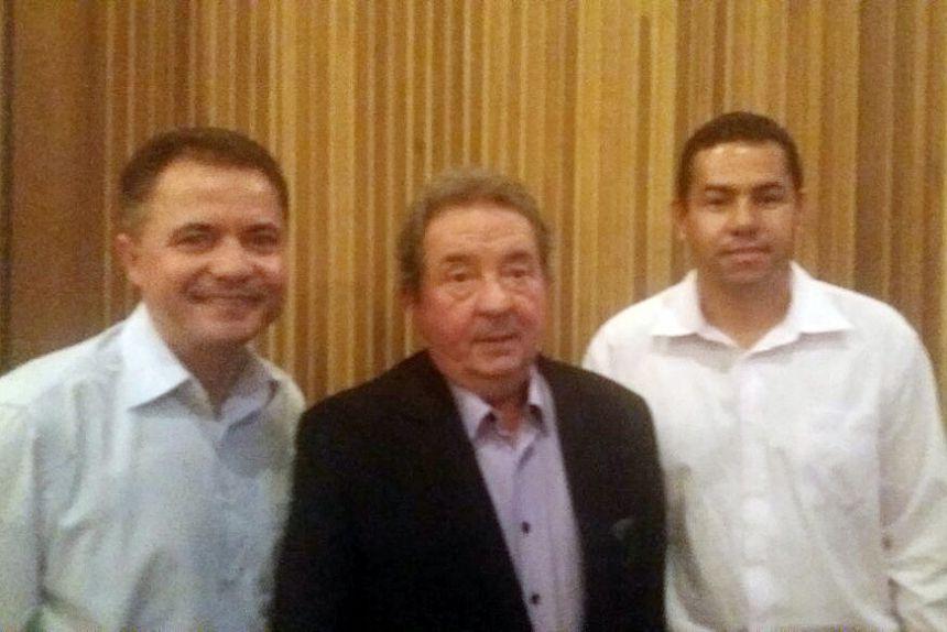 Prefeito Val Dantas, presidente do tribunal - Conselheiro Renato Martins Costa e o presidente da Câmara Alex. Foto: Cedida.