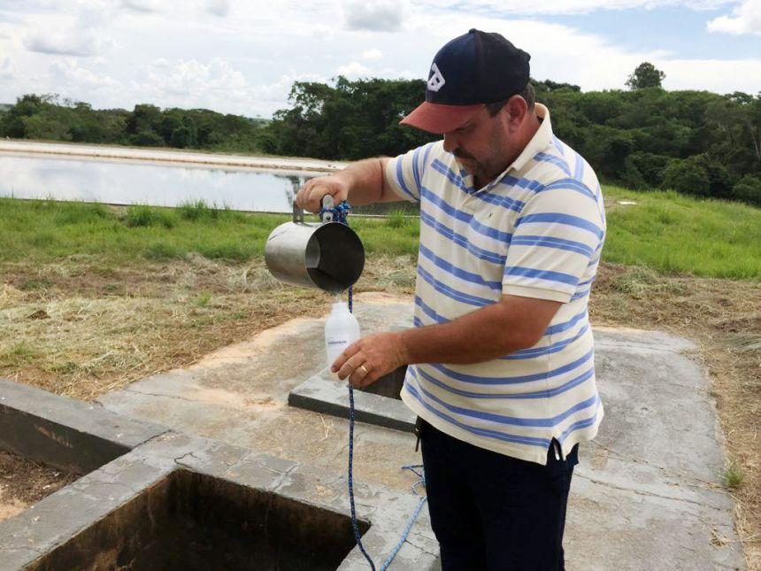Prefeitura de Mariápolis realiza monitoramento da eficiência do tratamento do esgoto no município