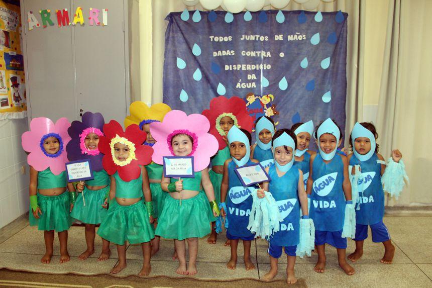 Alunos da creche municipal comemoram Dia da Água