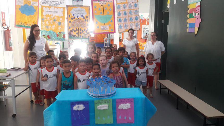 Alunos da creche escola Rute fazem atividades no Dia da Água