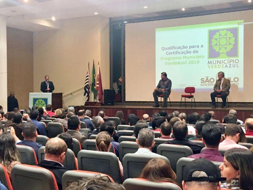 Secret�rio de Estado de Meio Ambiente Marcos Penido durante explana��o aos participantes do evento