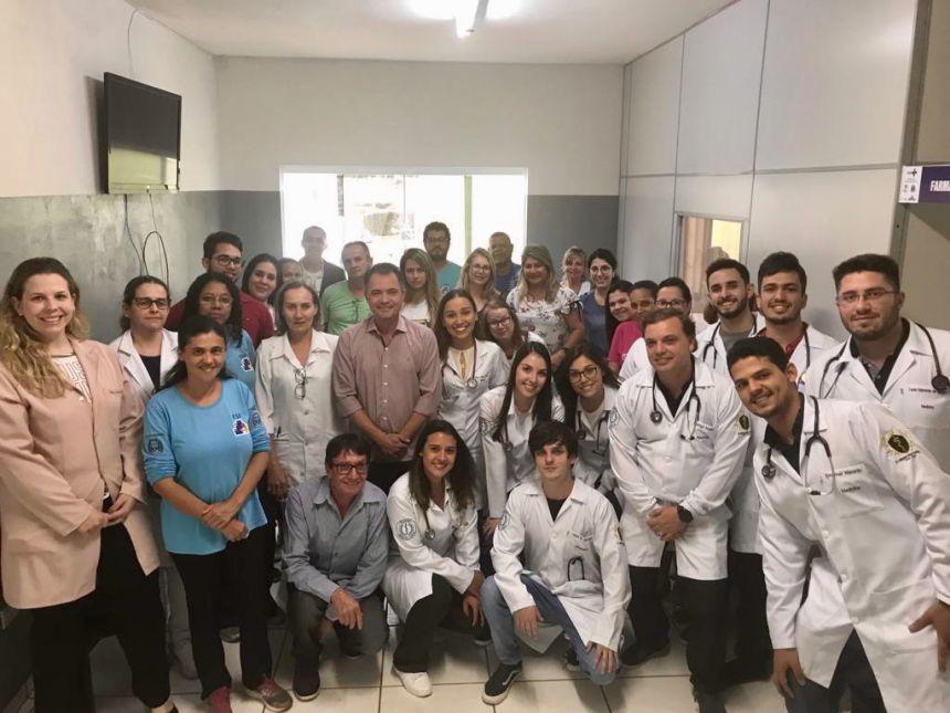 Prefeitura de Mariápolis recebe alunos do internato de Medicina da UniFAI