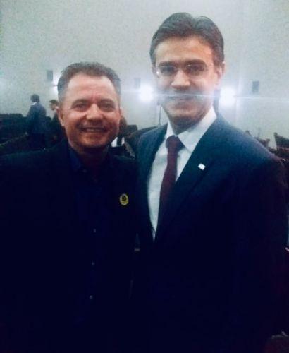 Prefeito Val Dantas e o vice-governador Rodrigo Garcia