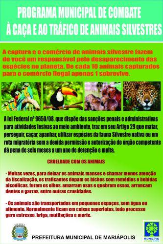 Programa Municipal de Combate à Caça e ao Tráfico de Animais Silvestres