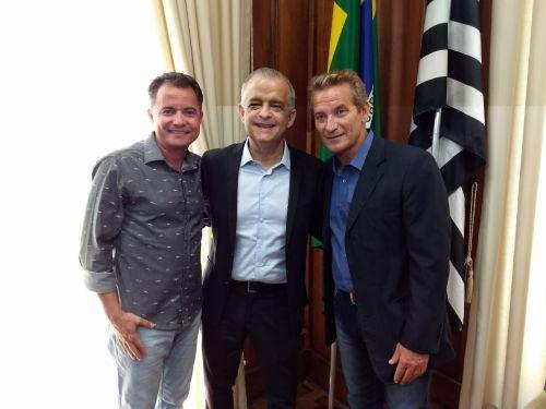Prefeito Val Dantas, vice-governador M�rcio Fran�a e o deputado estadual Ed Thomas