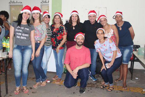 Prefeito Val Dantas e equipes do CRAS e Secretaria Social