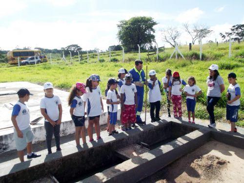 Visita a Estação de Tratamento de Esgoto do município de Mariápolis