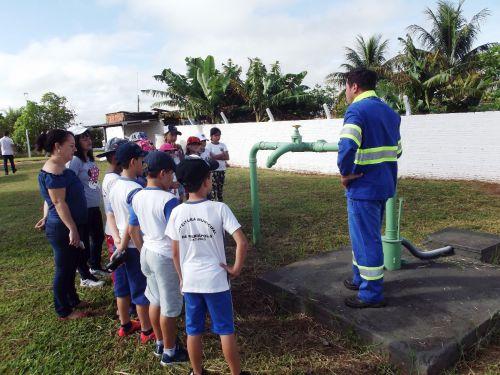 Visita dos alunos ao Sistema de Capitação de Água de Mariápolis