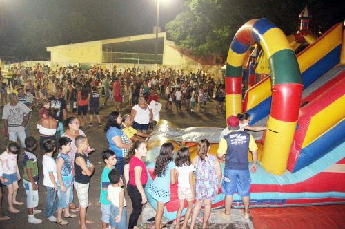 Evento teve a presença de crianças e comunidade