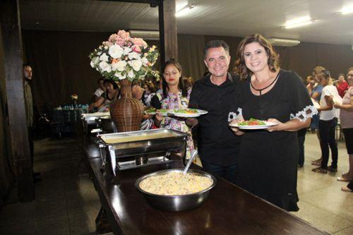 Prefeito Val Dantas e primeira-dama Rose Barbosa