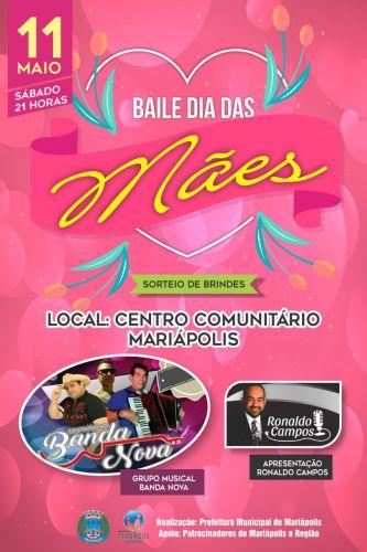 Prefeitura promove baile em homenagem ás mães neste sábado