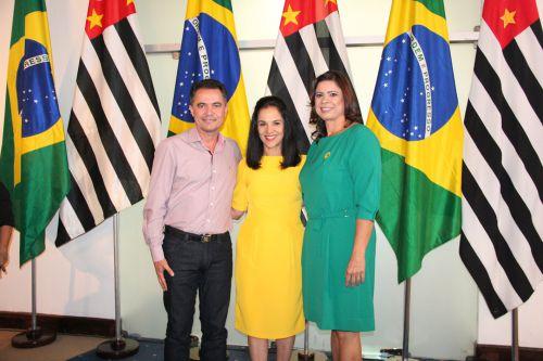 Prefeito Val Dantas, Lu Alckmin e primeira-dama Rose Barbosa
