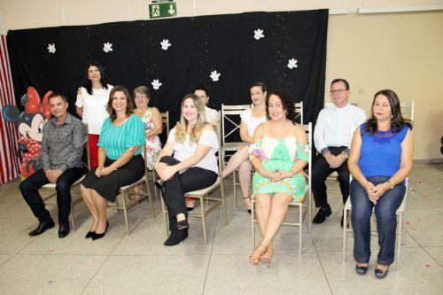 Autoridades presentes na formatura da Escola Rute