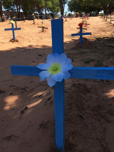 Novas cruzes de madeira foram substitu�das