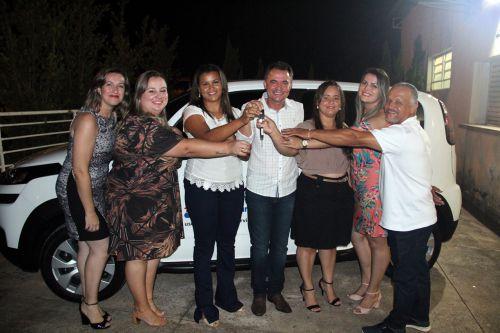 Conselheiras Tutelares com o prefeito Val Dantas e o presidente do COMDECA Sidney Bomfim