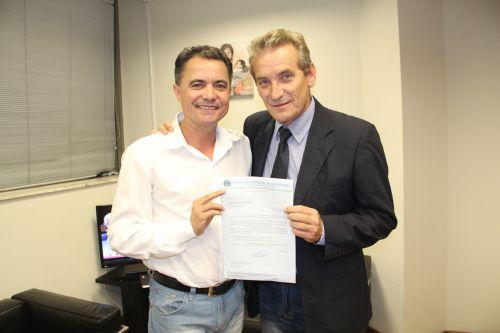 Prefeito Val Dantas e o deputado Ed Thomas