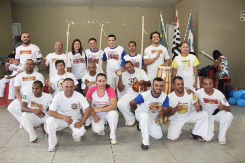 Autoridades com os mestres visitantes presentes em Mariápolis