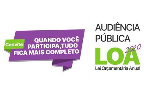 CONVITE AUDIÊNCIA PÚBLICA - LOA 2020