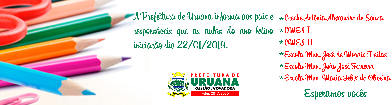 Volta as Aulas 2019