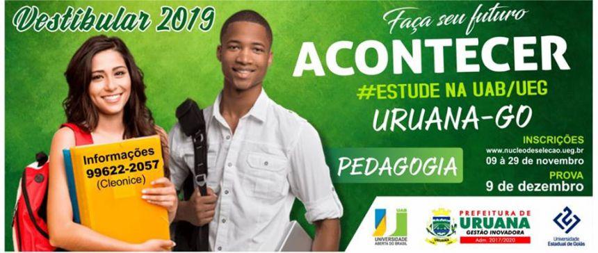 UNIVERSIDADE ABERTA DO BRASIL ABRE NOVA TURMA DE GRADUAÇÃO EM PEDAGOGIA PARA URUANA