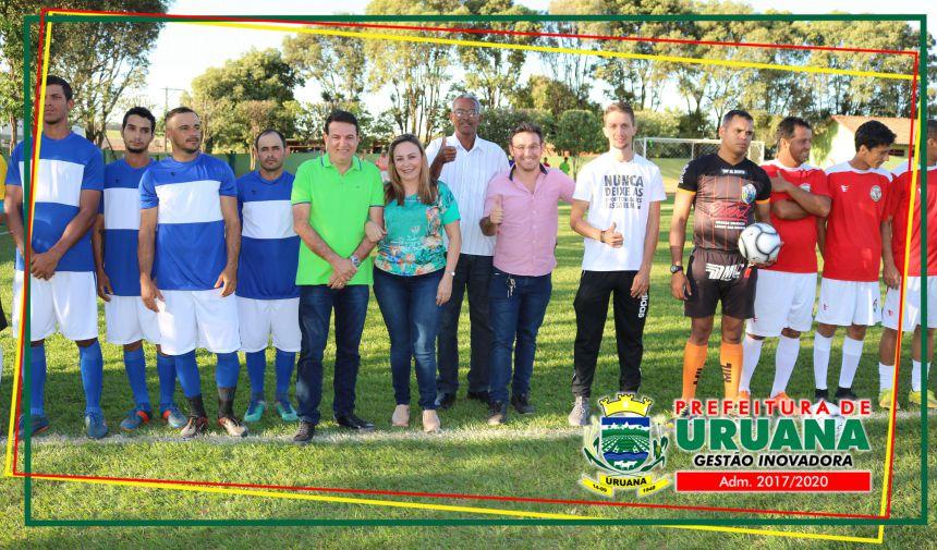Cerimônia de abertura da 1ª Olimpíadas de Férias de Uruana