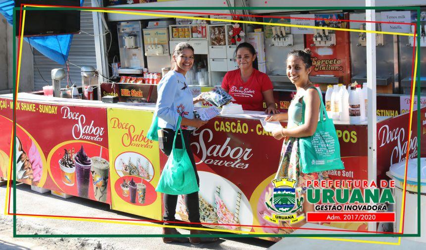 Campanha de Educação Ambiental com Vendedores Ambulantes da Festa em Honra a São Sebastião