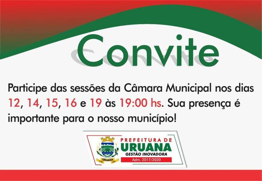 Compareça! Sua participação é importante para o futuro de nossa cidade!