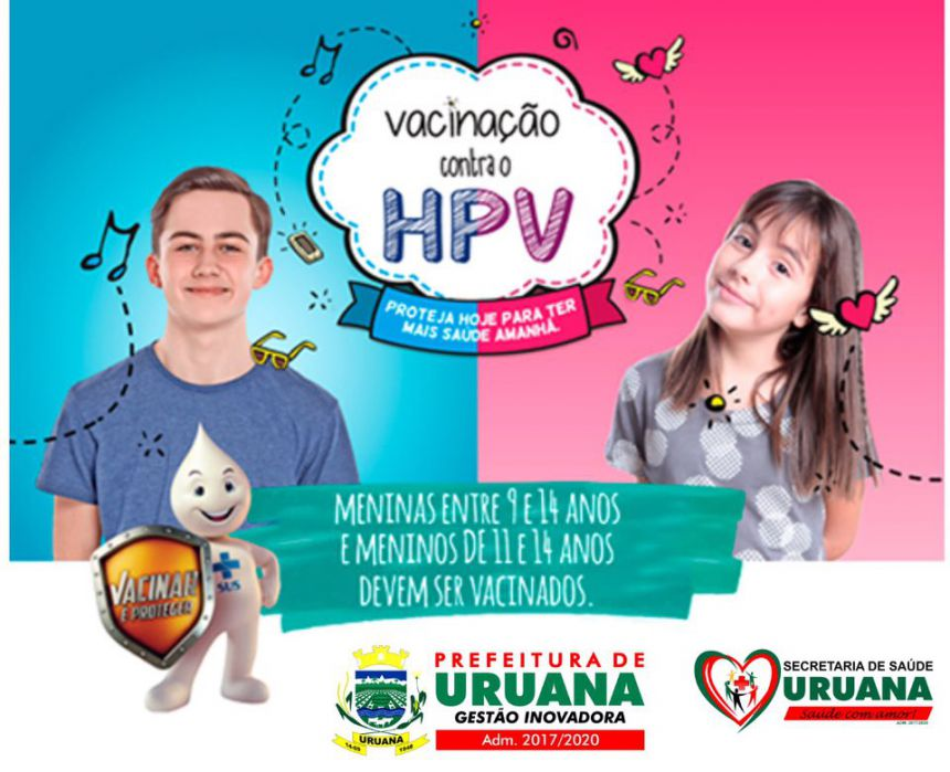 Prefeitura convoca público-alvo para vacinação contra HPV em Uruana