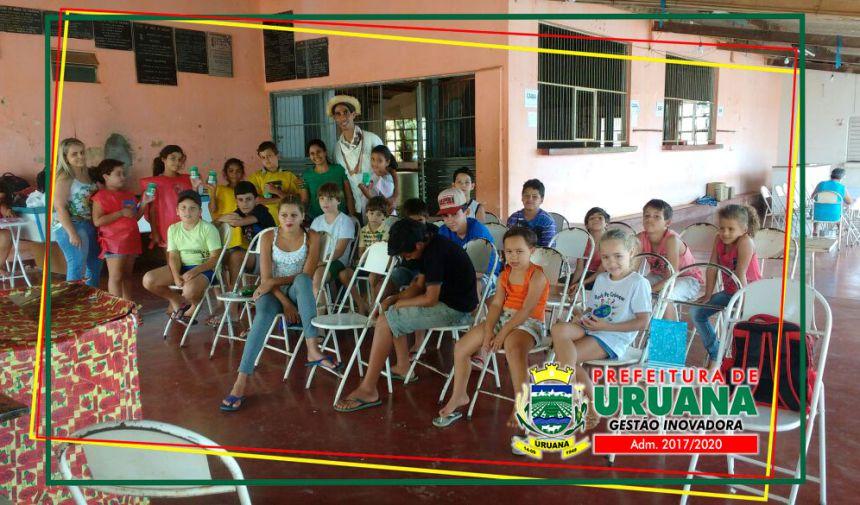Programa Acessuas Trabalho de Uruana e Serviço de Convivência e Fortalecimento de Vínculos dão orientações preciosas às crianças de como poupar dinheiro.