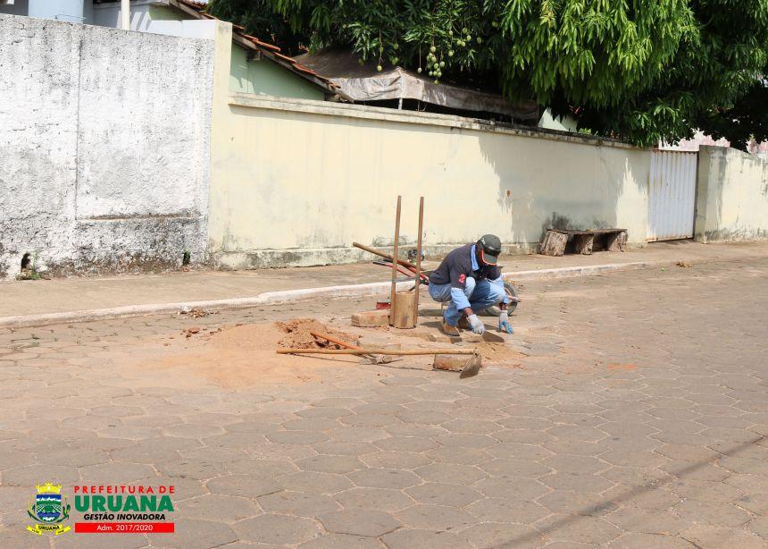 Prefeitura de Uruana realiza diversos serviços de limpeza e manutenção