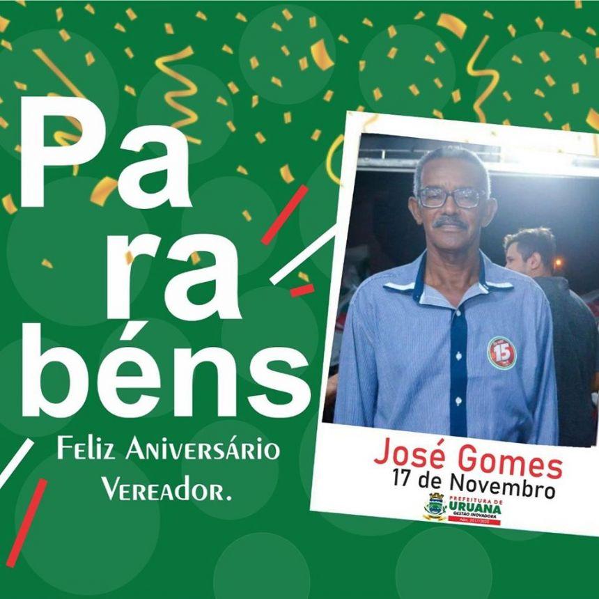 Parabéns Vereador José Gomes